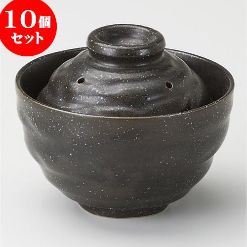 10個セット 雑煮鍋 天正黒レンジ0.5合炊き [ 13.2 x 10cm ] 料亭 旅館 和食器 飲食店 業務用