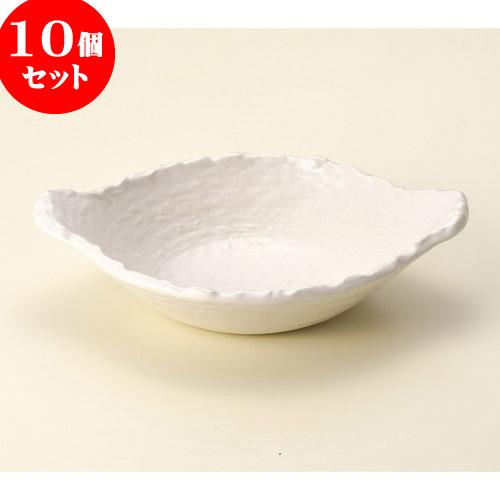 10個セット 陶板 白変形浅鍋 [ 28 x 22 x 6.8cm ] 料亭 旅館 和食器 飲食店 業務用