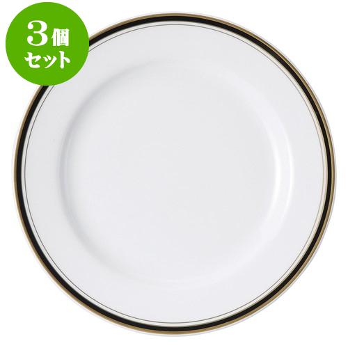 3個セット洋陶オープン ムーンリバー(ウルトラホワイト) 10吋ミート [ 25.5cm ] 料亭 旅館 和食器 飲食店 業務用