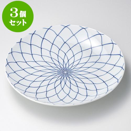 3個セット有田焼大皿 手描網9号皿(有田焼) [ 27 x 4cm ] 料亭 旅館 和食器 飲食店 業務用