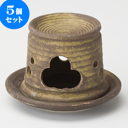 5個セット 茶香炉 織部イラボ茶香炉長 [ 12.5 x 8.8cm ] 料亭 旅館 和食器 飲食店 業務用