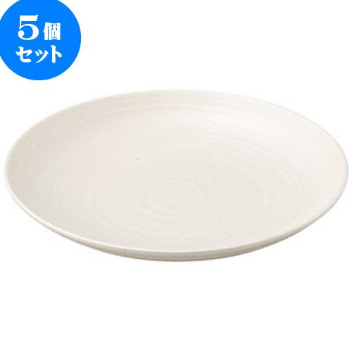5個セット 和陶オープン こよみ 白8寸皿 [ 24 x 3.2cm ] 料亭 旅館 和食器 飲食店 業務用