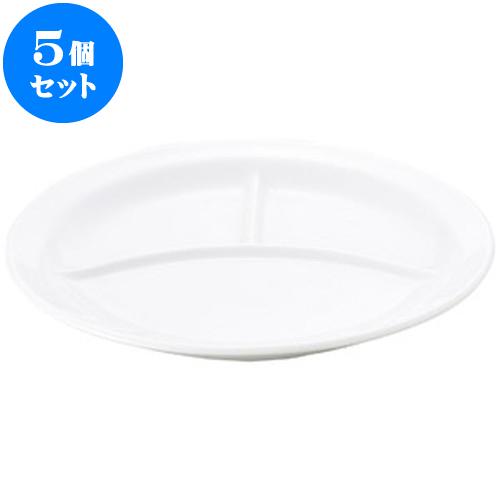 5個セット 洋陶オープン 白玉渕 丸10吋ランチ [ 25 x 3cm ] 料亭 旅館 和食器 飲食店 業務用