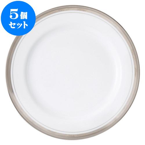 5個セット 洋陶オープン シルバーリッチ 9吋ミート皿 [ 23.2cm ] 料亭 旅館 和食器 飲食店 業務用