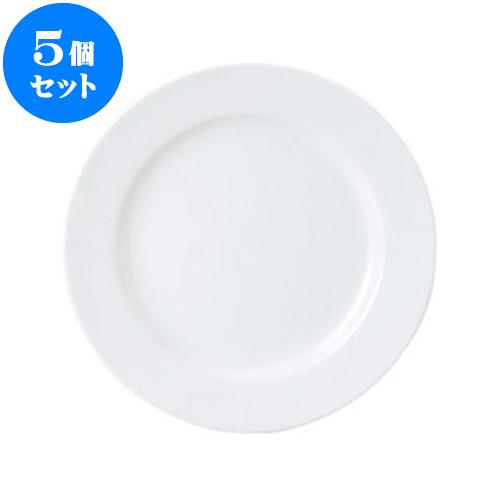 5個セット 洋陶オープン UDEウルトラホワイト 10吋ミート [ 25.4 x 2.3cm ] 料亭 旅館 和食器 飲食店 業務用