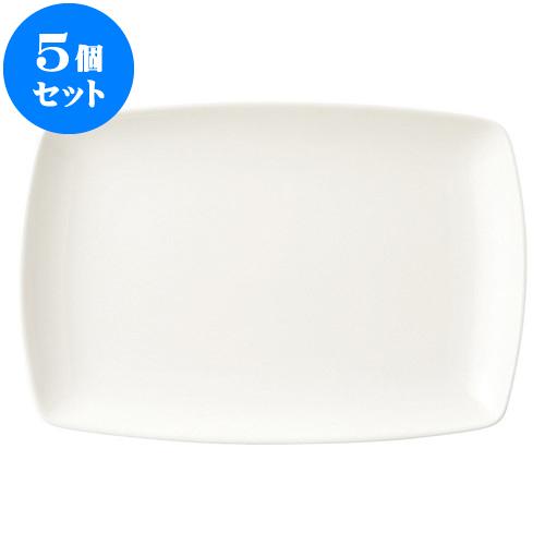 5個セット 洋陶オープン 新型ベーシック 34cm長角皿 [ 34 x 23 x 3.5cm ] 料亭 旅館 和食器 飲食店 業務用