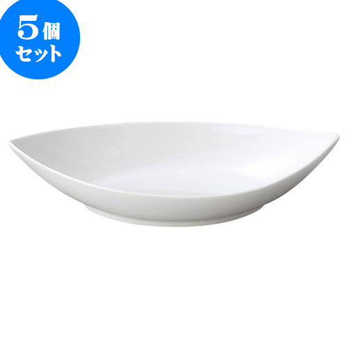 5個セット 洋陶オープン AngelWhite シープボール(大・白) [ 25.5 x 14.5 x 5.5cm ] 料亭 旅館 和食器 飲食店 業務用