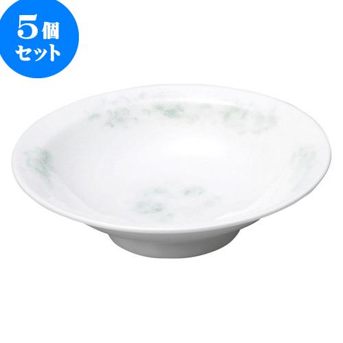5個セット 中華オープン 夢彩華 7.0丸高台皿 [ 20.7 x 5.5cm ] 料亭 旅館 和食器 飲食店 業務用