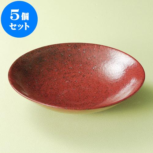 5個セット 麺皿 紅柚子8.0麺皿 [ 25 x 6cm ] 料亭 旅館 和食器 飲食店 業務用