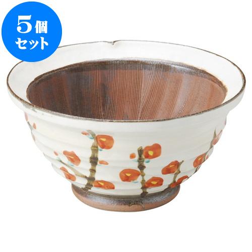 5個セット すり鉢 錦梅9.0スリ鉢 [ 27.2 x 14cm ] 料亭 旅館 和食器 飲食店 業務用