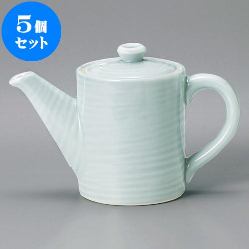 5個セット 汁次 青磁六兵汁次(小)(萬古焼) [ 9 x 12cm 500cc ] 料亭 旅館 和食器 飲食店 業務用