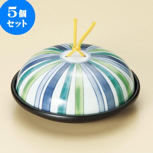 5個セット 陶板 陶板鍋十草模様(小)(蓋強化) [ 17.1 x 7cm ] 料亭 旅館 和食器 飲食店 業務用