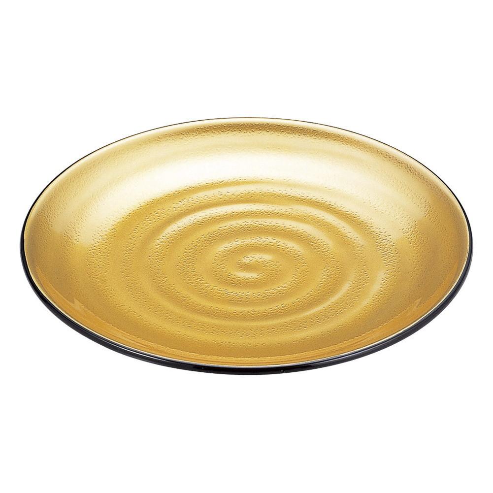 尺4神龍鉢 金粉蒔き(全面塗) [ φ42 x 5.2cm ] [ 鍋用盛皿 ]   飲食店 焼肉 居酒屋 肉料理 厨房 業務用