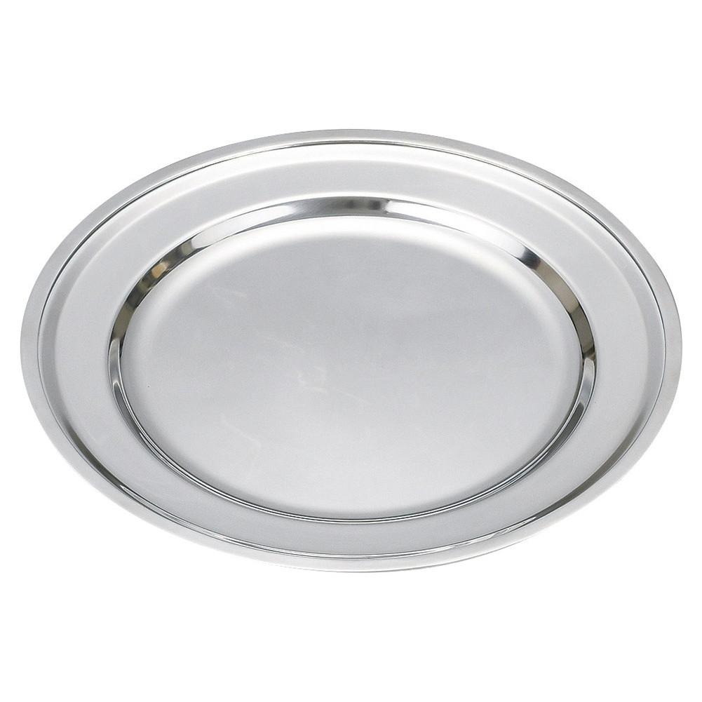 30cmステンレス 丸皿 [ φ29.3cm ] [ 韓国鍋用品 ]   韓国料理 アジア料理 飲食店 焼肉店 業務用