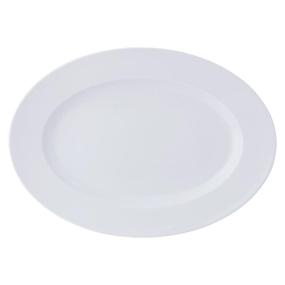 GIGA2 TA183 GIGA 18吋リムプラター [ 45.3 x 32.3 x 4.3cm 1979g ] [ 楕円皿 ]   飲食店 ホテル レストラン 洋食 業務用