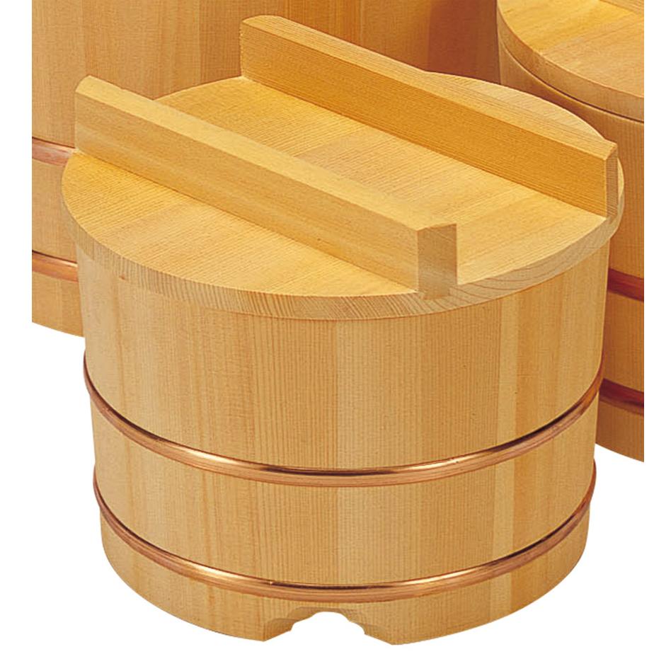 木曽木製品 サワラおひつ8寸(約7合) [ 24 x 19.5cm ] 【料亭 旅館 和食器 飲食店 業務用】