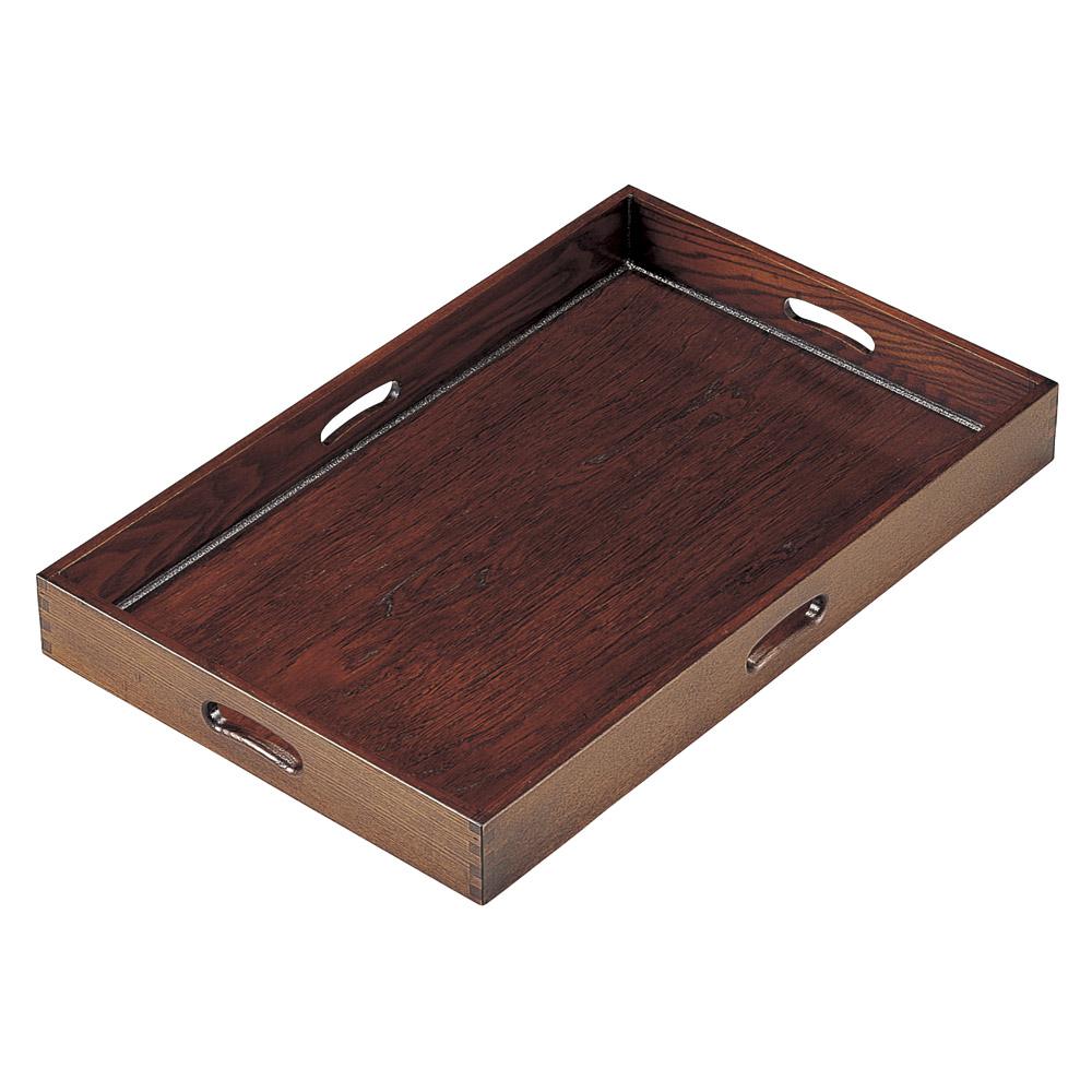 木曽木製品 四方手掛運び盆(1枚) [ 63 x 40 x 6.8cm ] 【料亭 旅館 和食器 飲食店 業務用】