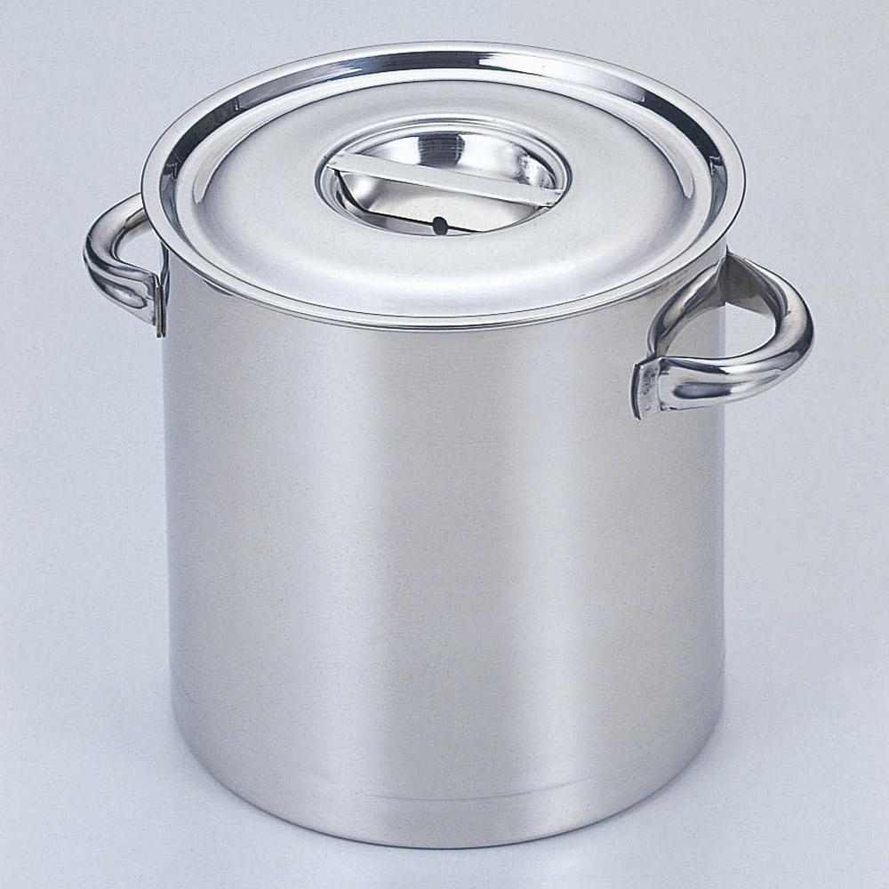 厨房用品 18-8寸胴鍋(目盛付) [ 30cm 深さ30cm 21L ] 【料亭 旅館 和食器 飲食店 業務用】