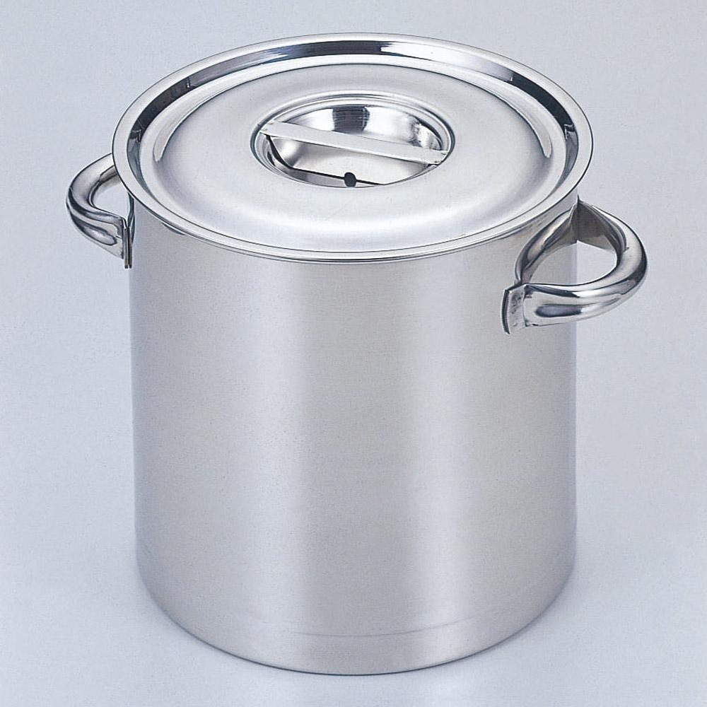 厨房用品 18-8寸胴鍋(目盛付) [ 36cm 深さ36cm 36L ] 【料亭 旅館 和食器 飲食店 業務用】