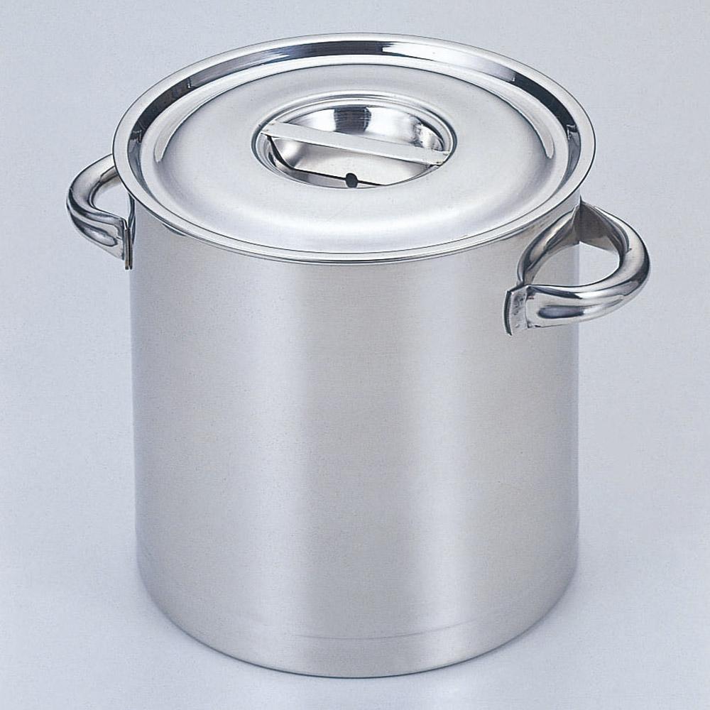 厨房用品 18-8寸胴鍋(目盛付) [ 42cm 深さ42cm 58L ] 【料亭 旅館 和食器 飲食店 業務用】