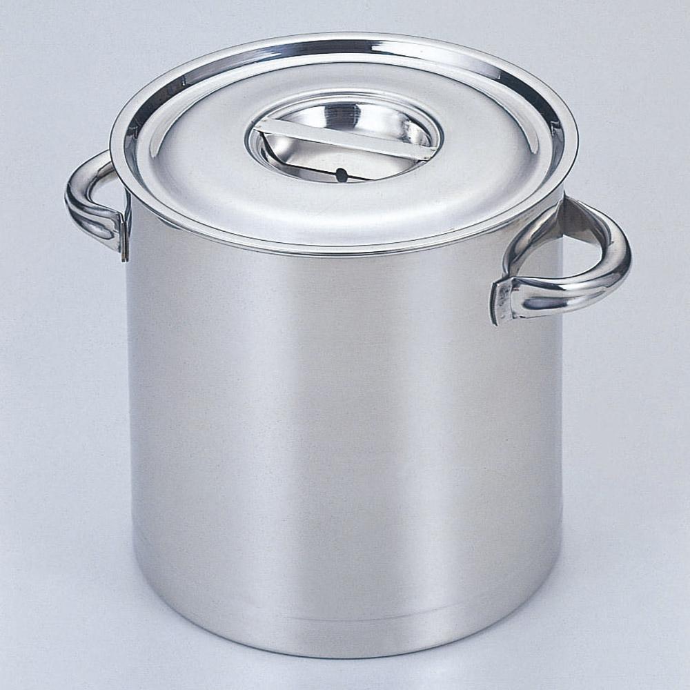 厨房用品 18-8寸胴鍋(目盛付) [ 45cm 深さ45cm 71L ] 【料亭 旅館 和食器 飲食店 業務用】