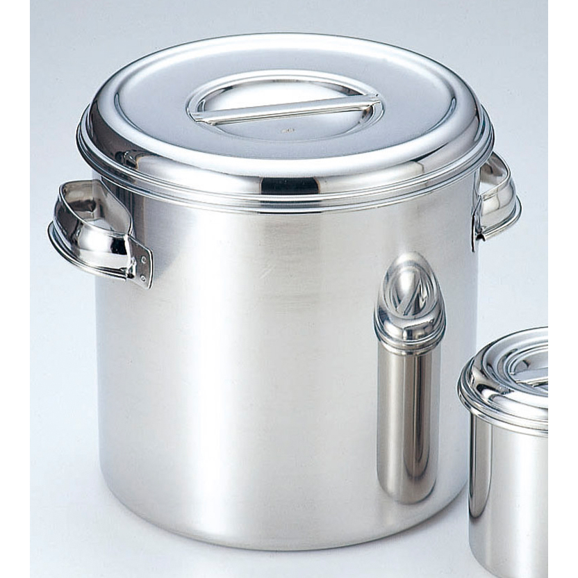 厨房用品 18-8丸深型キッチンポット [ 22cm 深さ22cm 8.3L手付 ] 【料亭 旅館 和食器 飲食店 業務用】
