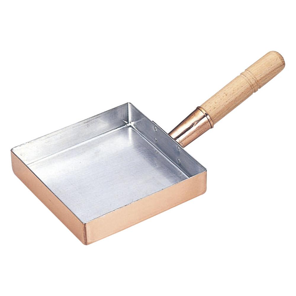 厨房用品 銅玉子焼関東型 [ 8寸24 x 24 x 3.9cm ] 【料亭 旅館 和食器 飲食店 業務用】