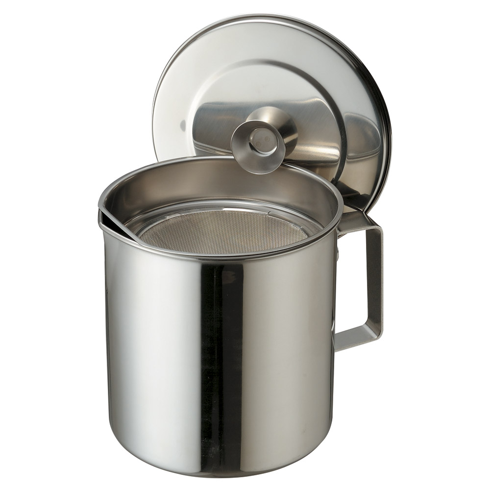 厨房用品 18-8オイルポット [ 14.4 x 15cm 2L ] 【料亭 旅館 和食器 飲食店 業務用】