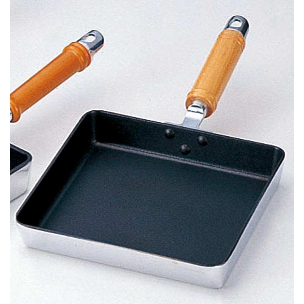 厨房用品 アルミプラチナストーン玉子焼 [ 大21 x 20cm ] 【料亭 旅館 和食器 飲食店 業務用】
