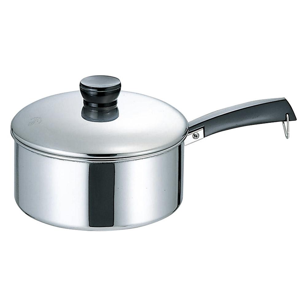 厨房用品 18-0ソースパン(片手鍋) [ 22cm ] 【料亭 旅館 和食器 飲食店 業務用】