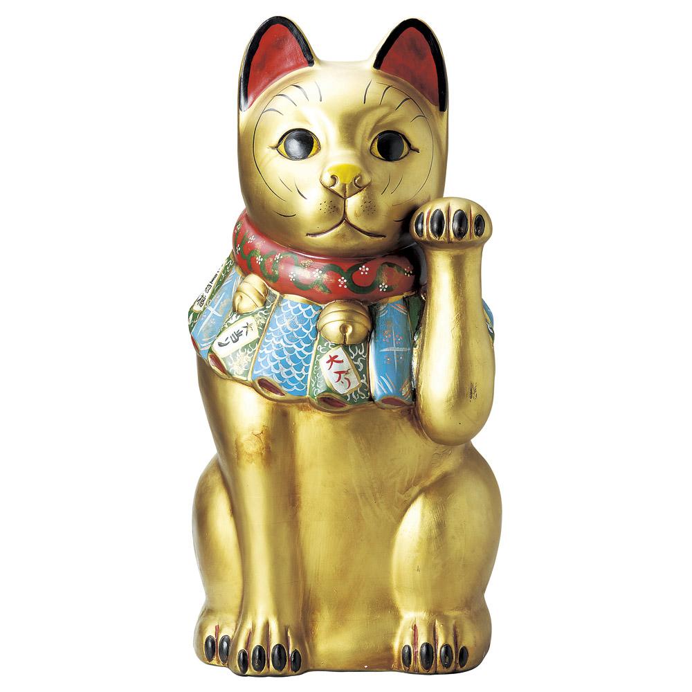 招き猫 瀬戸古色金彩金運 大招き猫 [ 約80cm ] | 招き猫 ねこ cat 縁起物 お土産 かわいい おしゃれ 飾り 玄関飾り 開運 商売繁盛 家内安全 お守り まねきねこ プレゼント ギフト 贈り物 開店祝い