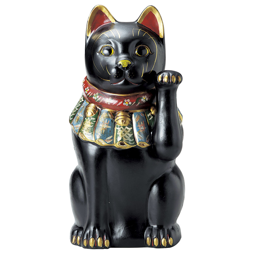 招き猫 古色大正猫(特大)黒(厄除け) [ 52cm ] | 招き猫 ねこ cat 縁起物 お土産 かわいい おしゃれ 飾り 玄関飾り 開運 商売繁盛 家内安全 お守り まねきねこ プレゼント ギフト 贈り物 開店祝い