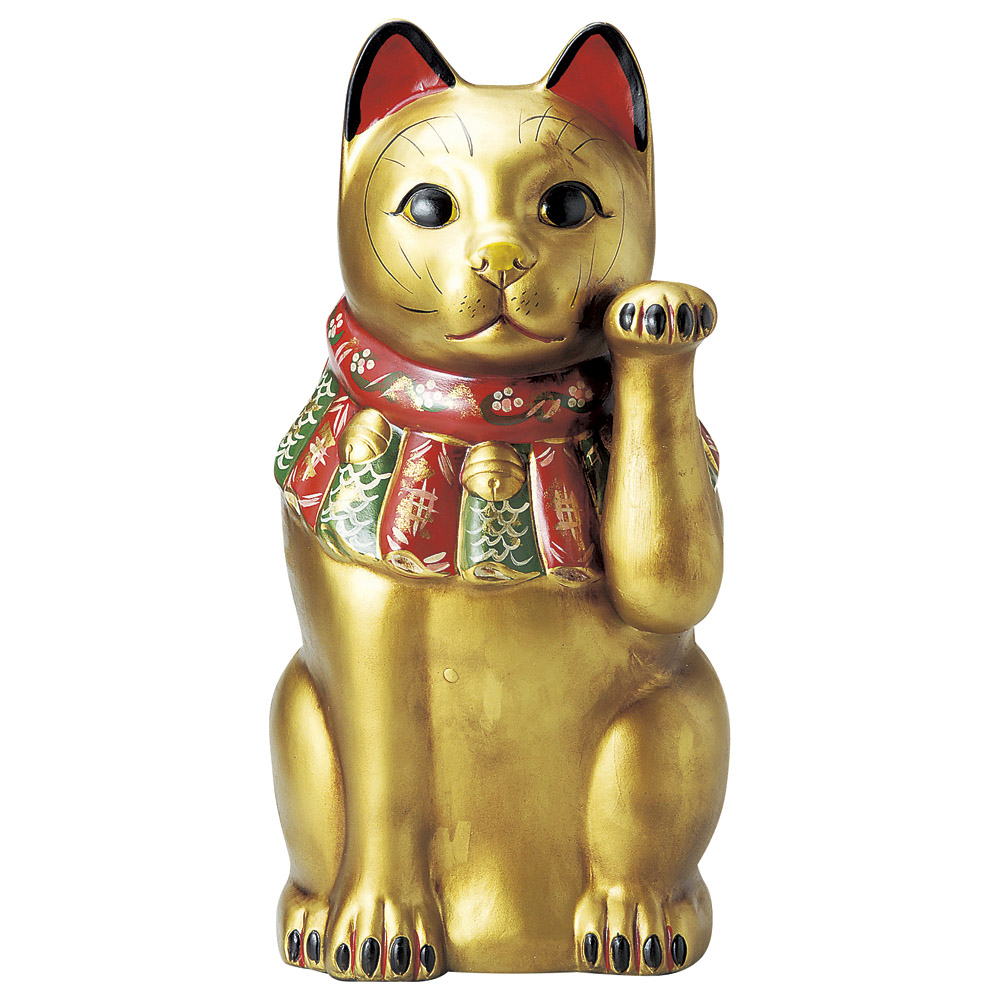 招き猫 古色大正猫(特大)金(金運) [ 52cm ] 【料亭 旅館 和食器 飲食店 業務用】