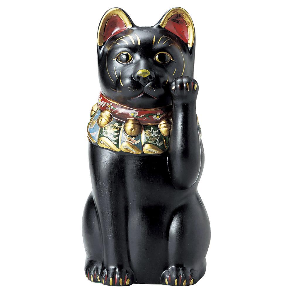 招き猫 古色大正猫12号(黒) [ 43cm ] 【料亭 旅館 和食器 飲食店 業務用】