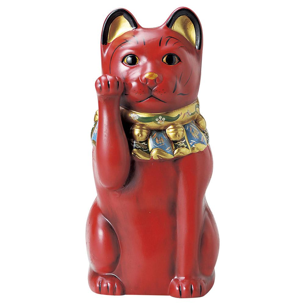 招き猫 古色大正猫12号(赤) [ 43cm ] | 招き猫 ねこ cat 縁起物 お土産 かわいい おしゃれ 飾り 玄関飾り 開運 商売繁盛 家内安全 お守り まねきねこ プレゼント ギフト 贈り物 開店祝い