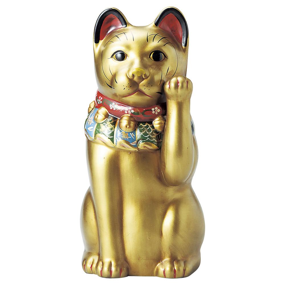 招き猫 古色大正猫12号(金) [ 43cm ] 【料亭 旅館 和食器 飲食店 業務用】