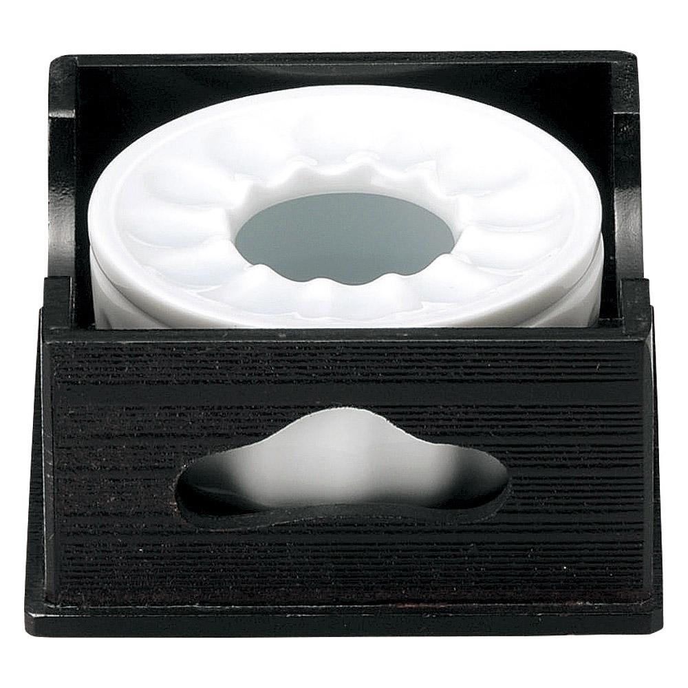 和陶オープン 青白磁 木枠付灰皿 [ 13 x 13 x 6.5cm ] 【料亭 旅館 和食器 飲食店 業務用】