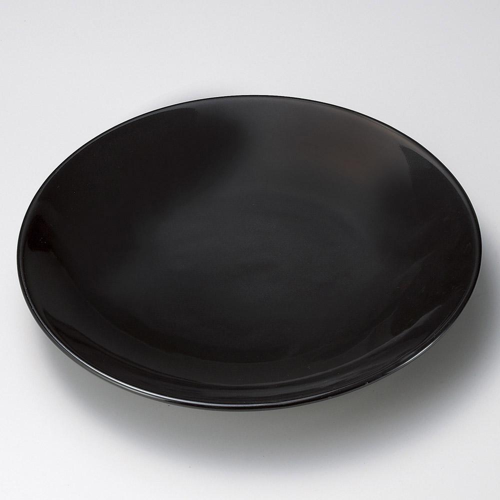 有田焼大皿 黒釉12号皿(有田焼) [ 37 x 5cm ] 【料亭 旅館 和食器 飲食店 業務用】