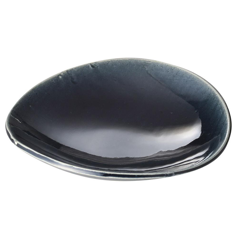 藍楕円たわみ9寸皿 [ 27 x 25.5 x 5.7cm ] [ 大鉢 ]   飲食店 和食 旅館 ホテル 業務用