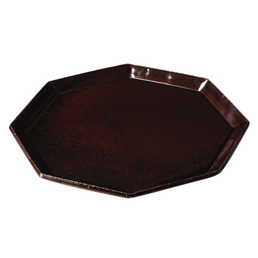 アングルブラウンL [ 27 x 27 x 1.8cm ] [ めん皿 ] | 飲食店 和食 定食屋 そば屋 業務用