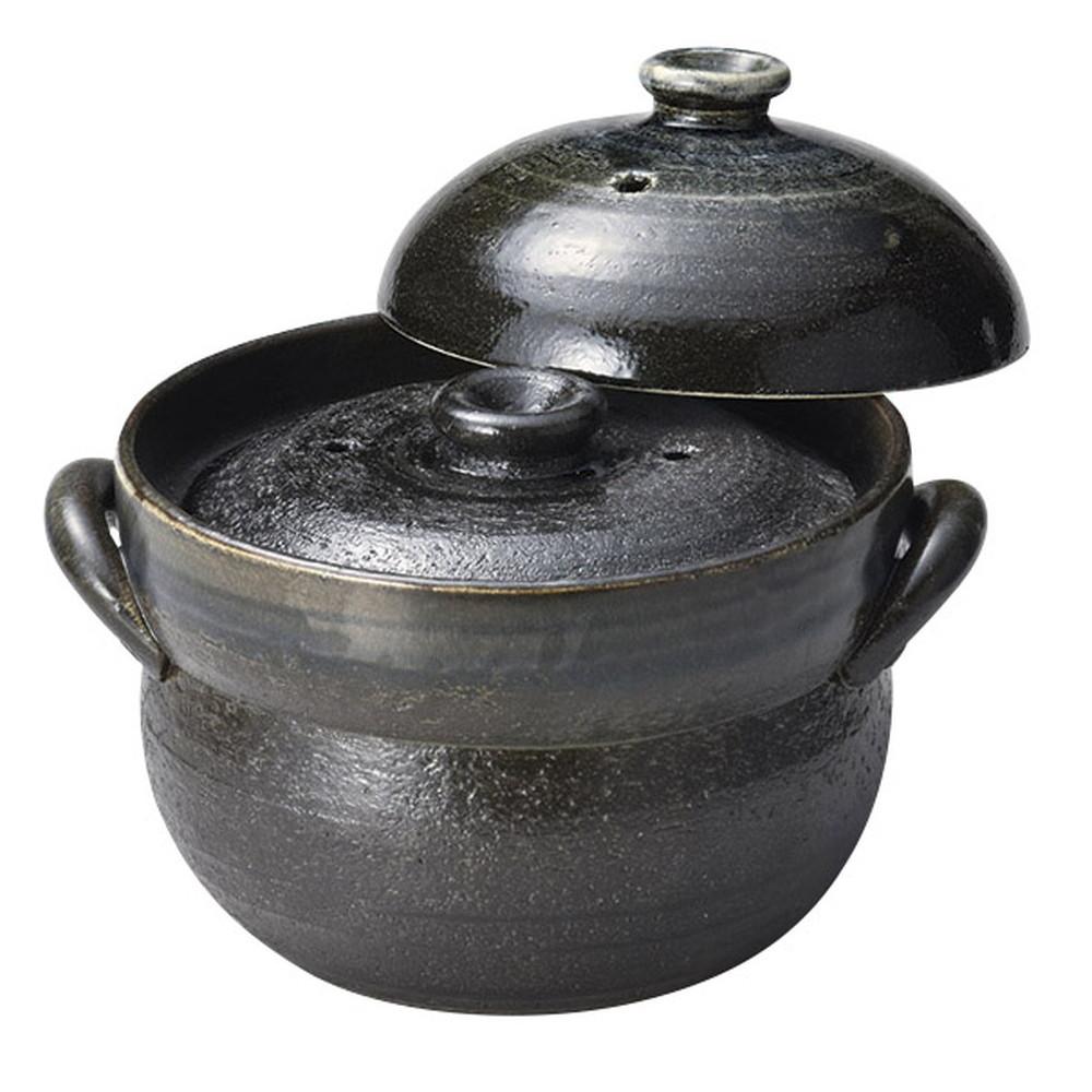 るり釉ご飯鍋2合炊(中蓋付) [ 20.5 x φ17.5 x 16.5cm(身11.5cm) ] [ ご飯鍋 ] | 飲食店 和食 日本食 旅館 料亭 業務用