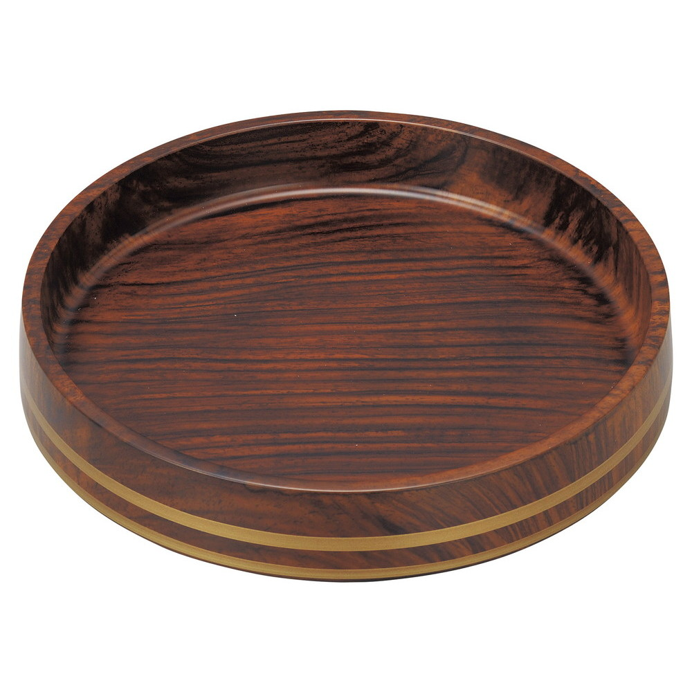 (A)D.X富士型桶 紫檀帯金 尺0寸 [ φ31 x 6cm ] [ 寿司桶 ] | 寿司屋 すし店 飲食店 パーティー 業務用