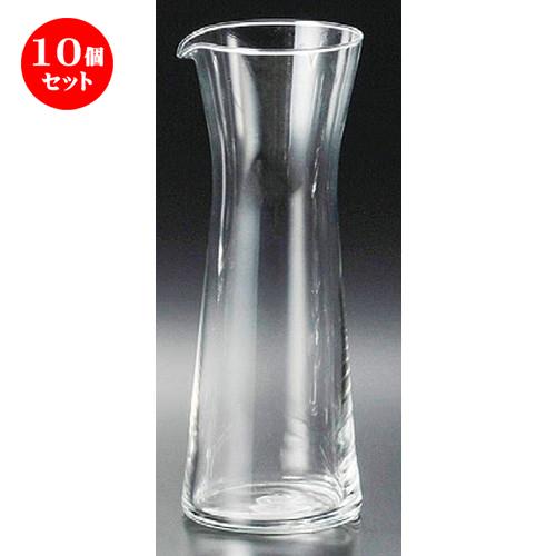 10個セット☆ ガラス器 ☆ ビストロカラフェ(L)500ML [ 80 x 75 x 215mm ] 【レストラン バー 居酒屋 飲食店 業務用 】