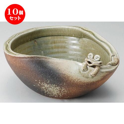 10個セット☆ 花器 ☆ 11号蛙付めだか鉢 [ 340 x 160mm ] 【インテリア 和室 華道 花瓶 】