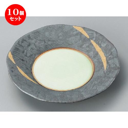 10個セット☆ 丸皿 ☆ 金カスリフルーツ皿 [ 155 x 28mm ] 【料亭 旅館 和食器 飲食店 業務用 】