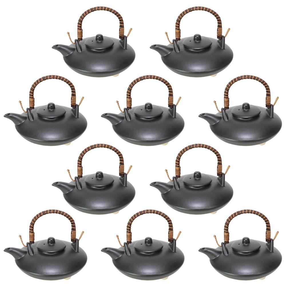 10個セット☆ 酒器 ☆ 黒マット耐熱ジョカ [ 175 x 155 x 75mm・300cc ] 【居酒屋 割烹 和食器 飲食店 業務用 】