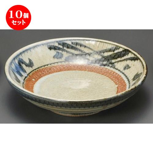 10個セット☆ 麺皿 ☆ 信楽格子7.0麺皿 [ 210 x 58mm ] 【蕎麦屋 定食屋 和食器 飲食店 業務用 】