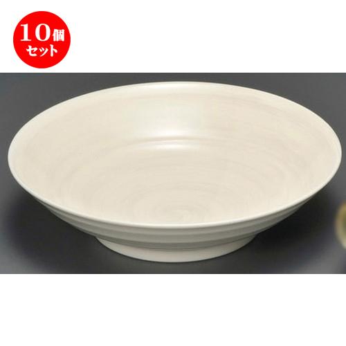 10個セット☆ 麺皿 ☆ 新粉引8.0大鉢 [ 250 x 65mm ] 【蕎麦屋 定食屋 和食器 飲食店 業務用 】
