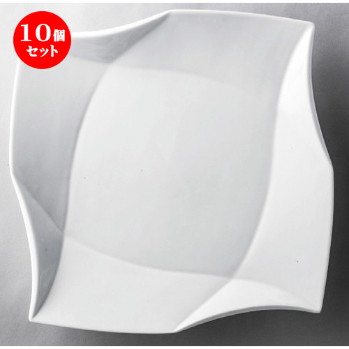 10個セット☆ 洋食器 ☆ 白磁8吋クラフトプレート [ 215 x 26mm ] 【レストラン ホテル 飲食店 洋食器 業務用 】