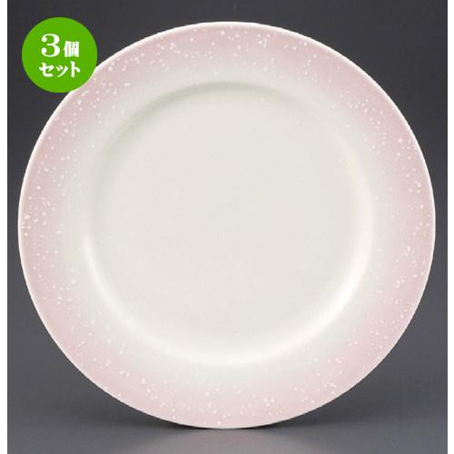 3個セット☆ パスタ皿 ☆ ピンク白吹リム付8.5寸皿 [ 260 x 220mm ] 【レストラン ホテル 飲食店 洋食器 業務用 】